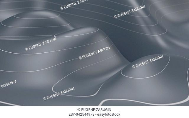 3D Topographic map background concept. Topo contour map. Render 3d render. Geography concept