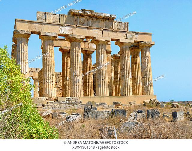 The Greek Temple of Selinunte Sicily Italy