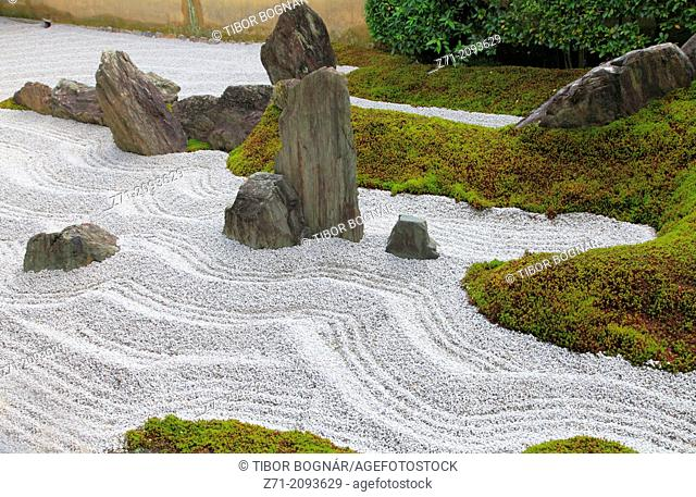 Japan, Kyoto, Daitokuji Temple, Zuiho-in, Garden of Solitary Sitting,