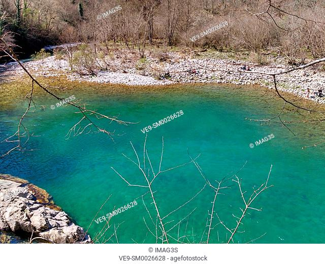 'Olla San Vicente', Dobra river, Asturias, Spain