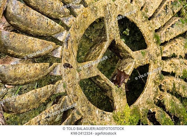 rueda de noria, Sa granja, casa museo, municipio de Esporlas,Majorca, Balearic Islands, Spain