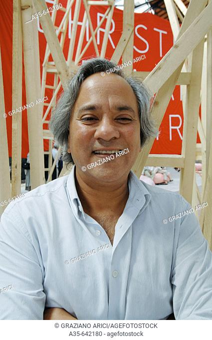 The artist Anish Kapoor. The 52nd Venice Art Exposition. Venice 04/06/2007