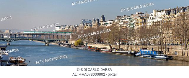 Banks of Seine River, Paris, France