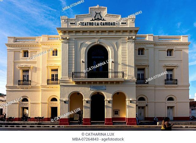 Cuba, Santa Clara, Parque Leoncio Vidal, Teatro la Caridad