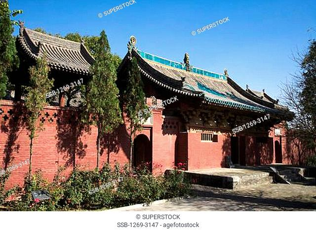 Facade of a temple, Zhenguo Temple, Pingyao, Shanxi Province, China