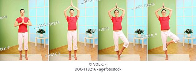 I am as strong as a tree $ - yoga exercise