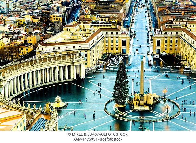 Saint Peter's Square , Vatican City, Rome