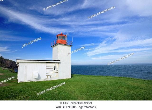 Cape d'Or Lighthouse on the Bay of Fundy where it runs into the Minas Channel Near Advocate Harbour Nova Scotia Canada