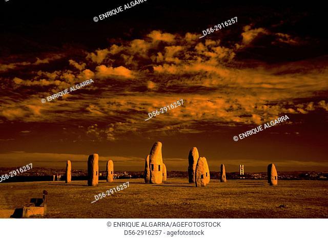 Menhires by Manolo Paz, Coruña city, Galicia, Spain