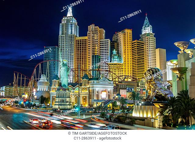 new york, new york, hotel, las vegas, nevada, usa