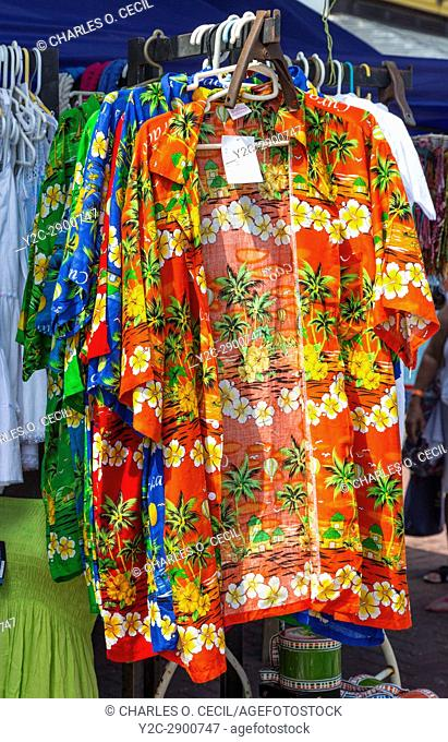Willemstad, Curacao, Lesser Antilles. Tropical Sport Shirt for Sale