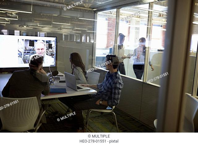 Business people meeting in video conference