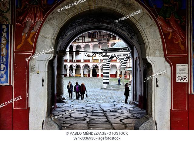 West entry to Rila monastery, Bulgaria