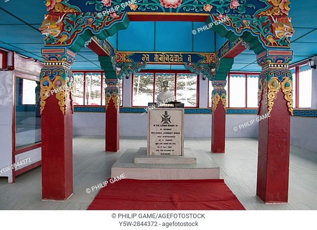 Indian Army memorial to Jaswant Singh, a hero of the 1962 border conflict with China, in Tawang, Arunachal Pradesh