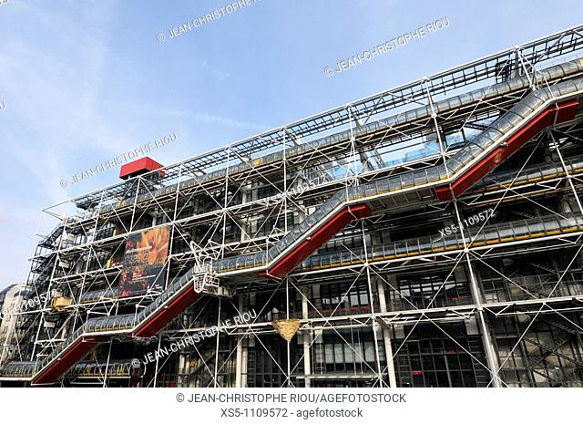 Centre Georges Pompidou, Beaubourg area, Paris, France