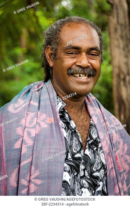 Tui Talili of Bulou's Eco Lodge, Navala Village, Viti Levu Island, Fiji