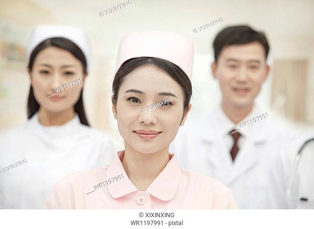 Three Healthcare workers, portrait