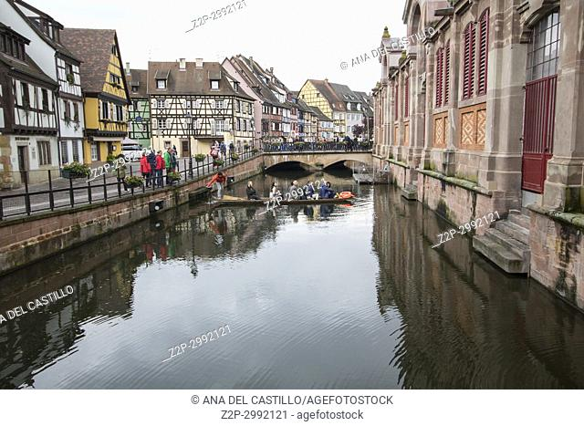 Colmar, Petit Venice, traditional colorful houses on May 14, 2016 in Alsace, France