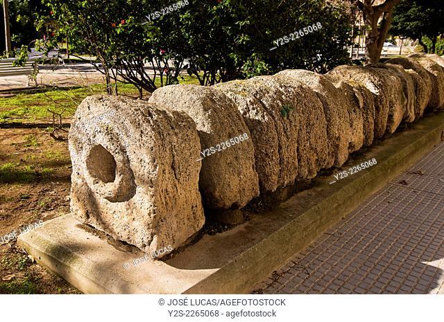 Roman aqueduct in the Plaza Asdrubal, Cadiz, Region of Andalusia, Spain, Europe