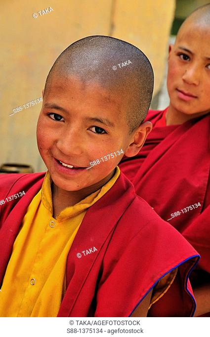 Young monk at Phyan monastery
