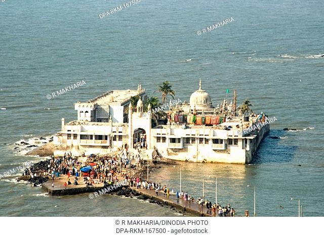 Haji ali dargah at Arabian sea , Bombay Mumbai , Maharashtra , India