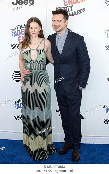 Sarah Ramos and Matt Spicerarrive attend the Independent Spirit Awards on March 3, 2018 in Santa Monica, California
