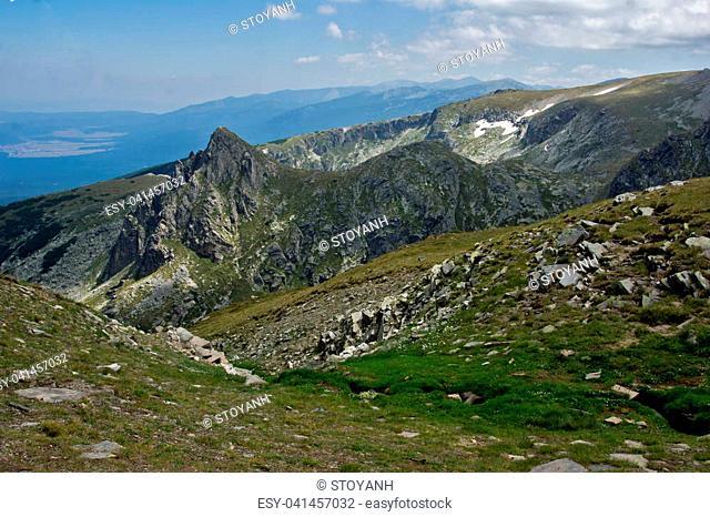 Amazing Panoramic Landscape near The Seven Rila Lakes, Bulgaria