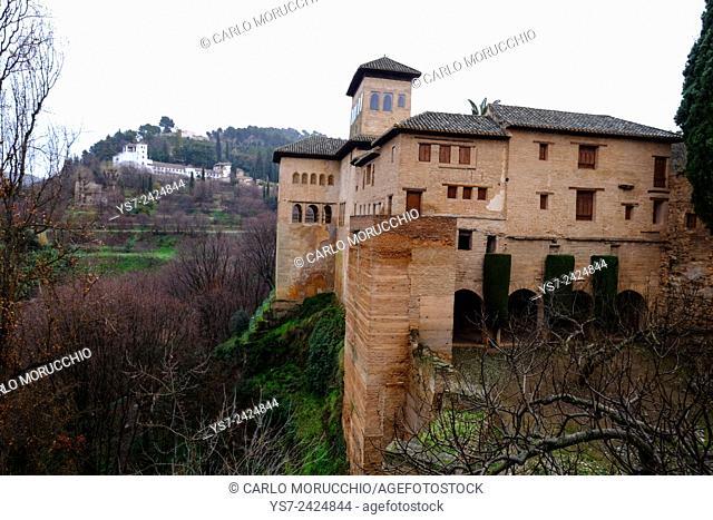 Palacio del Partal, Alhambra, Granada, Andalusia, Spain
