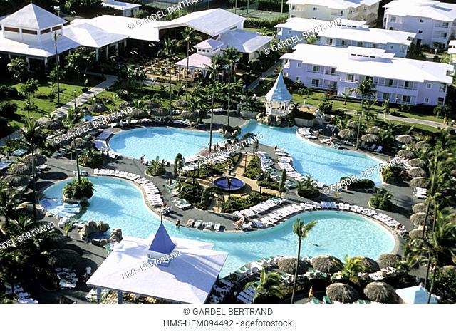 Dominican Republic, Puerto Plata province, aerial view of the Riu Bachata Hotel