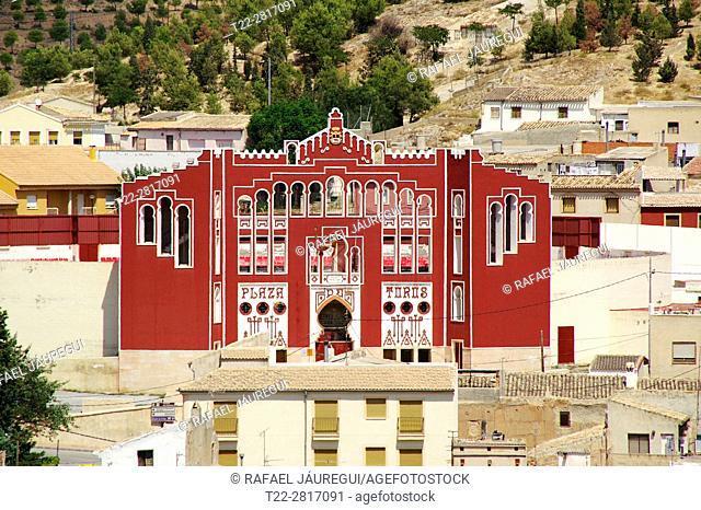Caravaca de la Cruz (Murcia) Spain. Bullring of the town of Caravaca de la Cruz