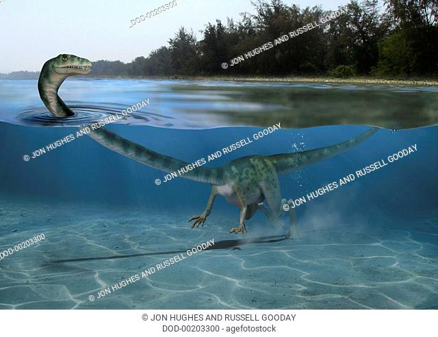 Tanystropheus. Triassic vertebrates, Tanystropheus, instantly recognizable by its outsized, noodle-like neck that was longer than its body and tail combined