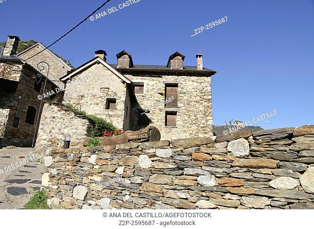 Cardet village in Boi valley Lleida Catalonia Spain