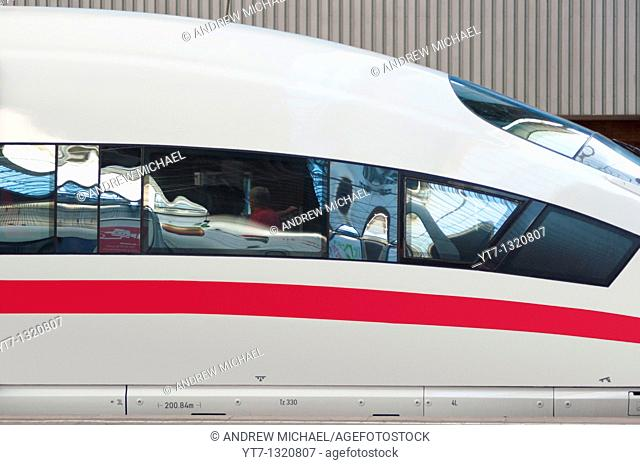 ICE, Germany's high speed intercity express train at Munich train station  Germany