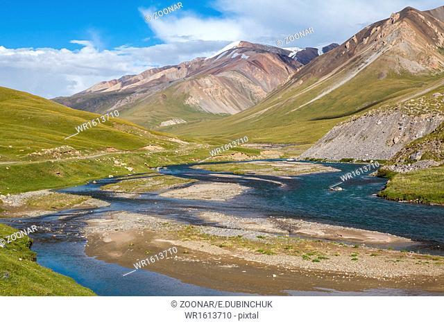 Tien Shan mountain river Jil-Suu