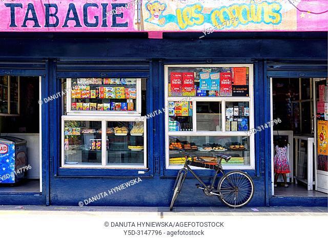 Tabac shop, street scene, Mahébourg, Grand Port district, southeastern coast of Mauritius, Mauritius, Mascarenhas, Mascarene Islands, Mascarene