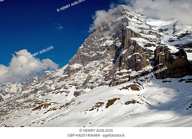 Europe - Switzerland - Alps - North-West Face of Eiger (3970m)