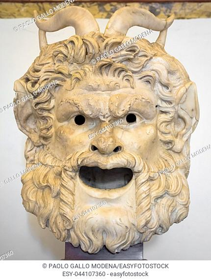 Satan head made of marble, useful for Satanic concept