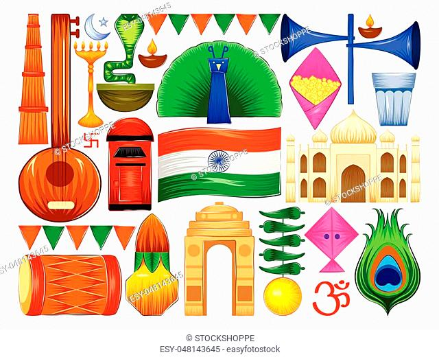 vector illustration of Happy Republic Day of India patriotic background