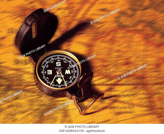 Photo illustrated, compass