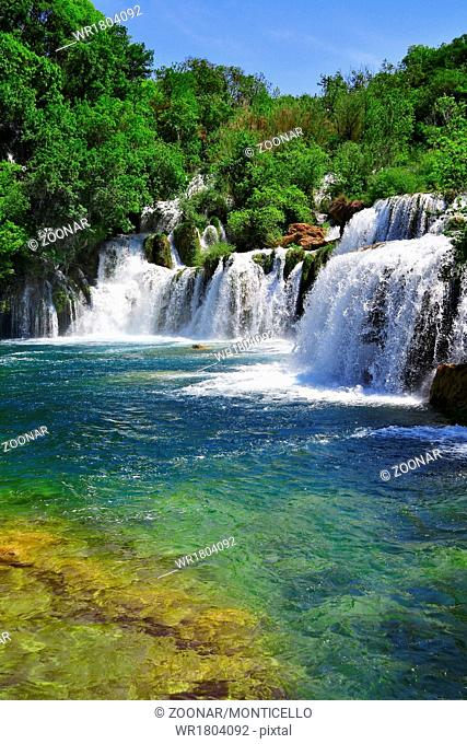 Waterfalls on Krka River. National Park