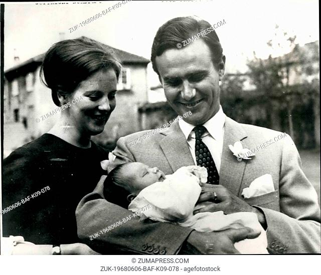 Jun. 06, 1968 - First Picture of Baby Son of Princess Margrethe ?¢'Ǩ'Äú Keystone Photo Shows: Princess Margrethe of Denmark and Prince Henrik - pictured at...