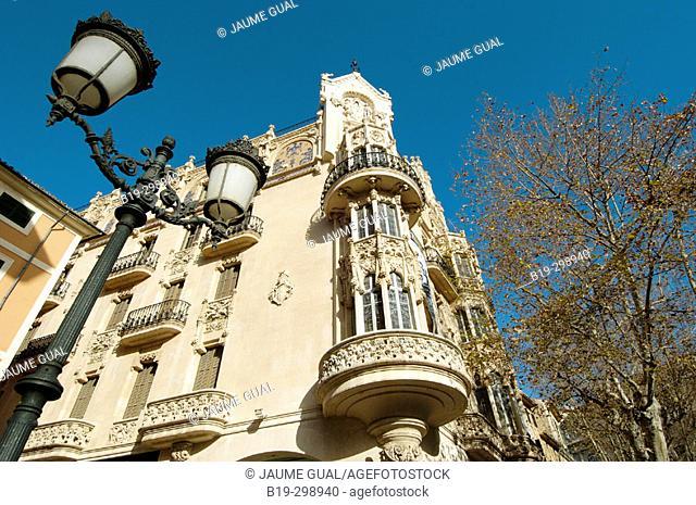 Gran Hotel, Fundació La Caixa museum. Palma de Mallorca. Majorca, Balearic Islands. Spain