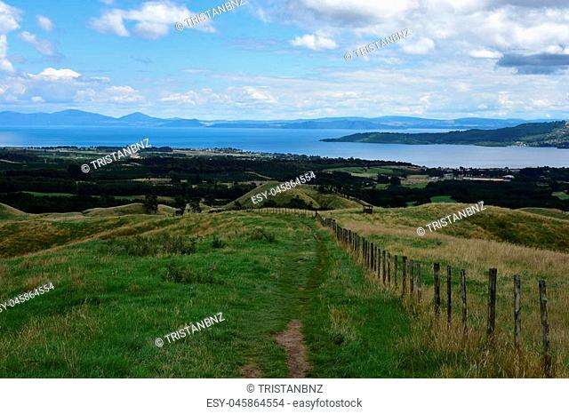 Vista of Taupo surrounds from Mount Tauhara
