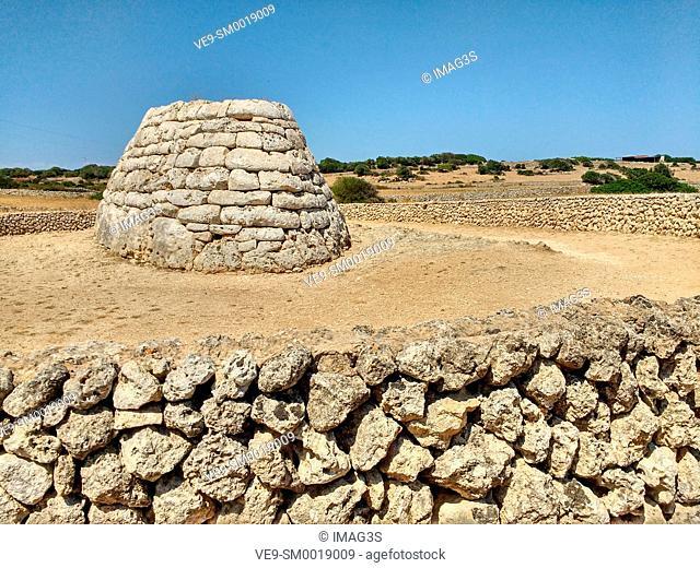 Naveta Es Tudons, Menorcan talayotic neolithic culture, Menorca, Balearic Islands, Spain