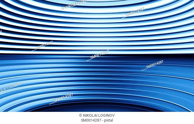 Horizontal blue curved panels illustration background hd