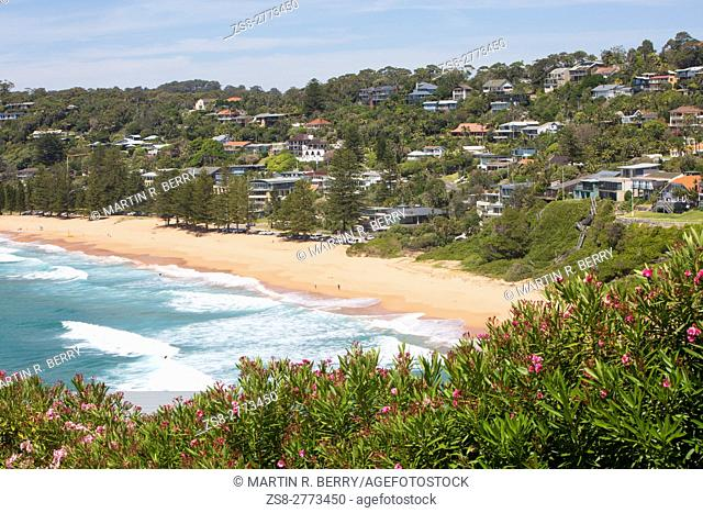 Whale Beach, one of Sydney's famous northern beaches,Australia