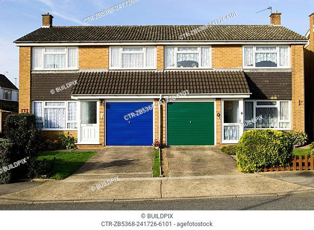 1960s semi detached houses, Ipswich, Suffolk, UK