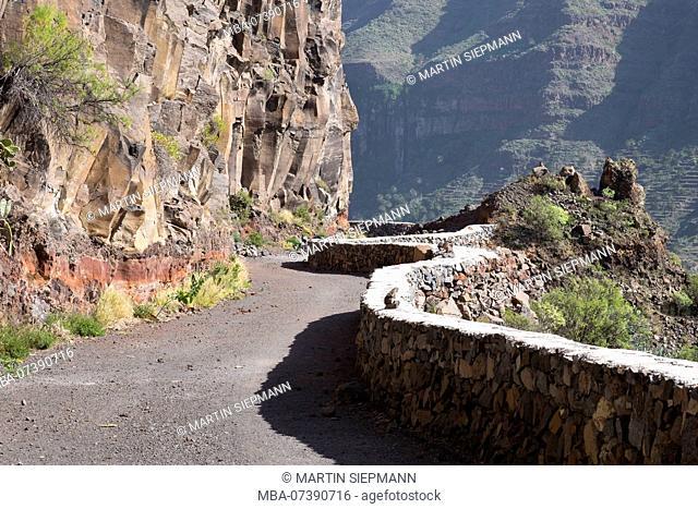old street, Valle Gran Rey, La Gomera, Canary Islands, Canaries, Spain