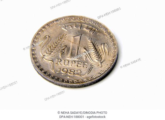 Concept of Indian coin one Rupee