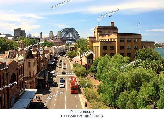 Sydney, Australia, New South Wales, Sydney Harbour, Sydney Harbour-Bridge, Skyline, Opernhaus, Opera House, tourist-attraction, The Rocks, Circular Quay